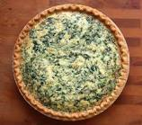 Picture of my yummy spinach quiche